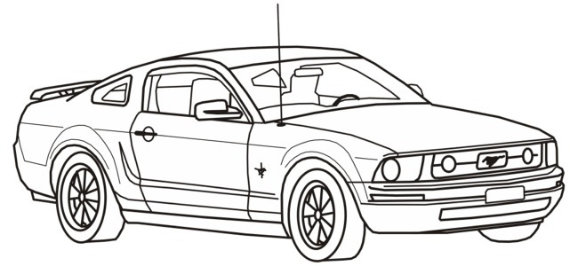coloring pages of muscle cars - muscle car coloring pages imagui