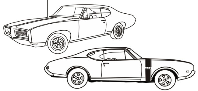 Car Themed Coloring Pages : Month calendar october
