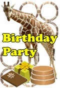 giraffe party invitation
