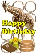 giraffe happy birthday
