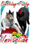 cats birthday party invitation