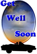 Get Well decoration sunset scene