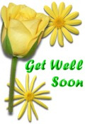 Get Well decoration yellow flowers