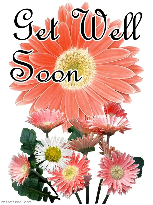 Dynamic image within printable get well card