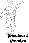 Happy Grandparent's Daygrandchild coloring image preview