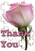 Thank You image pink flower