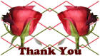 Thank You card image red rose