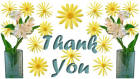 Thank You card image flowers