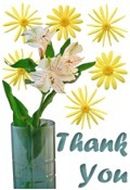 Thank You image flowers