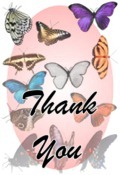 Thank You image butterflies