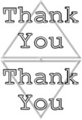 Thank You image black and white