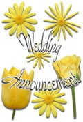 Floral Wedding Announcement preview