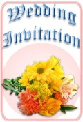 Flowers wedding invitation preview image