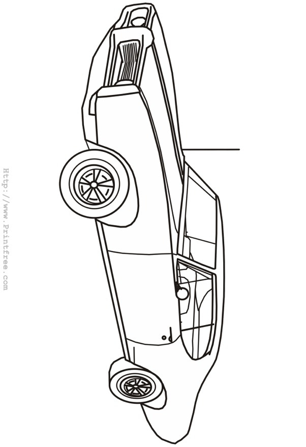 Premium Coloring Book 80 Sheets : Late sixties Lemans outline image