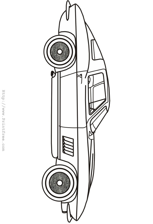 Hot Rod Coloring Pages
