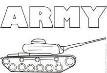 army coloring pages preview image