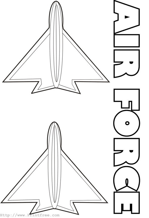 Coloring Page Image Air Force Af Coloring Pages