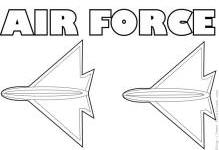 air force coloring page preview image - Air Force Coloring Pages Printable
